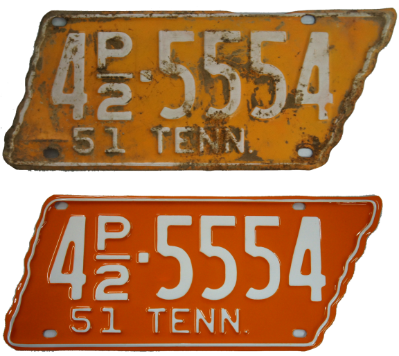 Tag Restoration, Antique License Plates, License Plate